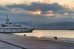 Yacht al porto di Nafplio Immagine Stock Libera da Diritti