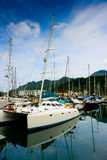 Yacht alla banchina Fotografie Stock