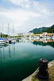 Yacht alla banchina Immagine Stock Libera da Diritti