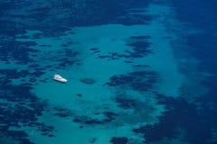 Luxury Yacht on ocean Stock Image