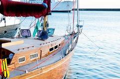 Yacht alongside the dock. Royalty Free Stock Photos