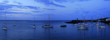 Yacht amarrações na manhã, Dunmore para o leste, Waterford, Irlanda Fotografia de Stock