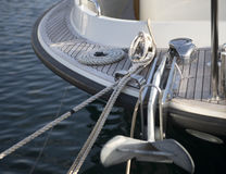 Yacht anchor. Front view close up Stock Image