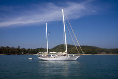 Yacht at anchor, Koh Naka Stock Photography