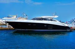 Yacht  anchored Royalty Free Stock Photos