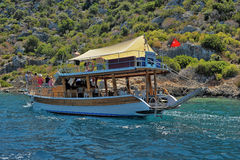 The yacht anchored in Kekova Royalty Free Stock Photography