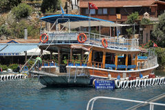 The yacht anchored in Kekova Stock Images