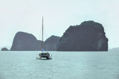 Yacht on andaman sea Royalty Free Stock Photo