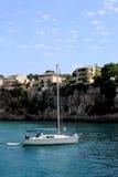 Yacht angekoppelt. Mallorca. Spanien Stockbilder