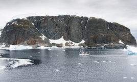 Yacht in Antarctica. This shot was made during expedition to Antarctica in January 2012 Stock Image