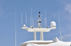 Yacht antennas Stock Images