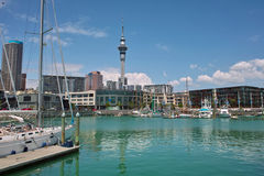 Yacht At Auckland Harbor Stock Photography