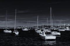 Yacht attraccati in Sydney Harbour Fotografie Stock Libere da Diritti
