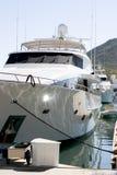 Yacht au dock Images libres de droits