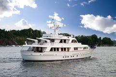 Yacht au siège photo libre de droits