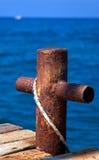 Yacht auf dem Meer. Lizenzfreies Stockfoto