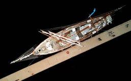 Yacht auf Hafen Stockbilder