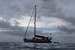 Yacht auf Ozean stockfotos