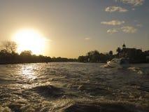 Yacht auf Rio de la Plata Stockfoto