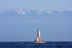 Yacht av den Vancouver ön Arkivbild