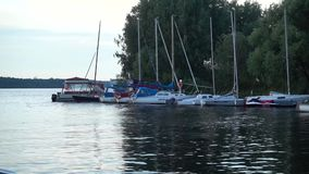 Yacht in bacino stock footage