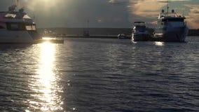 Yacht in baia stock footage