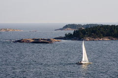 Yacht in Baltic sea Stock Image