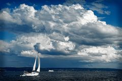 A Yacht in Baltic Sea Stock Images