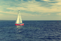 Yacht in the Baltic sea Stock Images