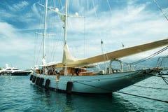 Yacht, barca Fotografia Stock Libera da Diritti