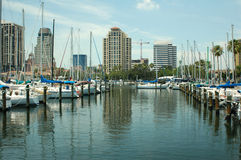 Yacht Basin 2. The yacht basin in St. Petersburg, Florida Stock Photography