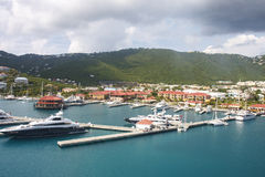 Yacht Basin on St Thomas Stock Photos
