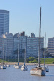 Yacht bay. In the capital of uruguay Stock Photos