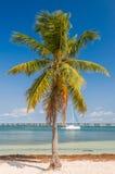 The yacht in the bay of Bahia Honda Key, Florida, US Stock Image