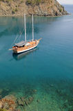 Yacht in the bay Royalty Free Stock Image