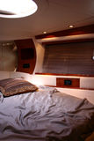 Yacht bedroom interior Stock Photos