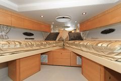 Yacht bedroom Royalty Free Stock Photography