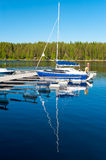 Yacht at berth Stock Photos