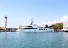 Yacht at the berth Stock Image