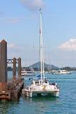 Yacht at berth Royalty Free Stock Photo