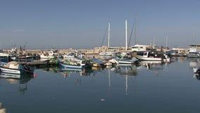 Yacht Berth Israel stock footage