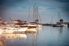 Yacht berth Royalty Free Stock Photos