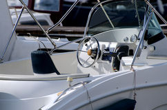 Yacht bianco Fotografie Stock Libere da Diritti