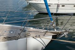 Yacht bianco di lusso Immagine Stock Libera da Diritti