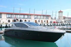Yacht black Stock Photos