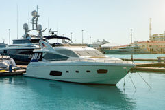 Yacht blanc Photographie stock