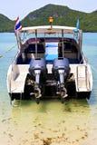 Yacht blue lagoon       stone in thailand kho sea Royalty Free Stock Image