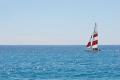 Yacht in the blue sea Royalty Free Stock Image