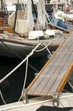 Yacht boarding ladder Stock Photo