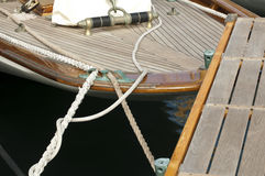 Yacht boarding ladder Royalty Free Stock Image